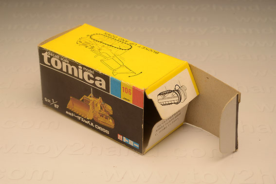 กล่องเปล่า Tomica No. 106 Komats Dozer Shovel D655 1