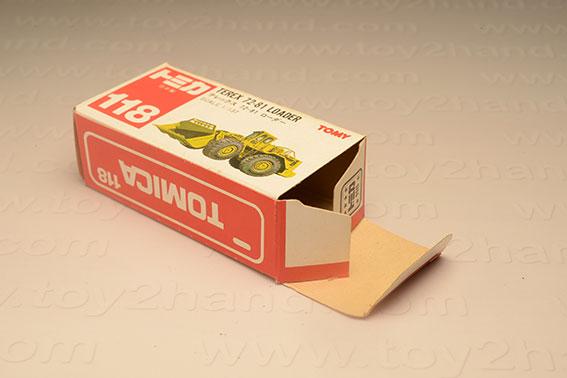 กล่องเปล่า Tomica No.118 Terex 72-81 Loader 1