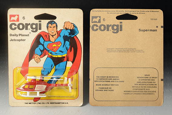 รถเหล็ก Corgi Junior No.6D Daily Planet Jetcopter (Superman Copter)