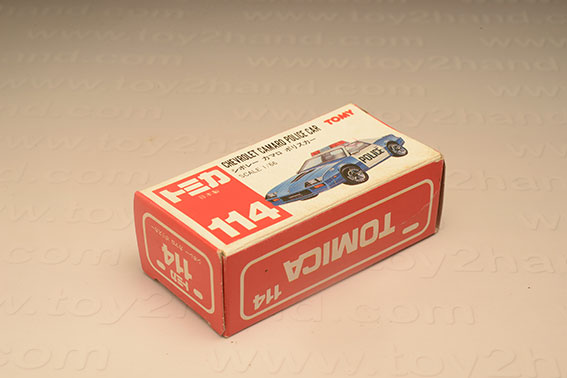กล่องเปล่า Tomica No. 114 Chevrolet Camaro Police Car