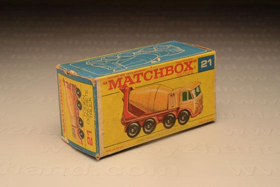 กล่องเปล่า Matchbox Regular Wheels No.21 Foden Concrete Truck