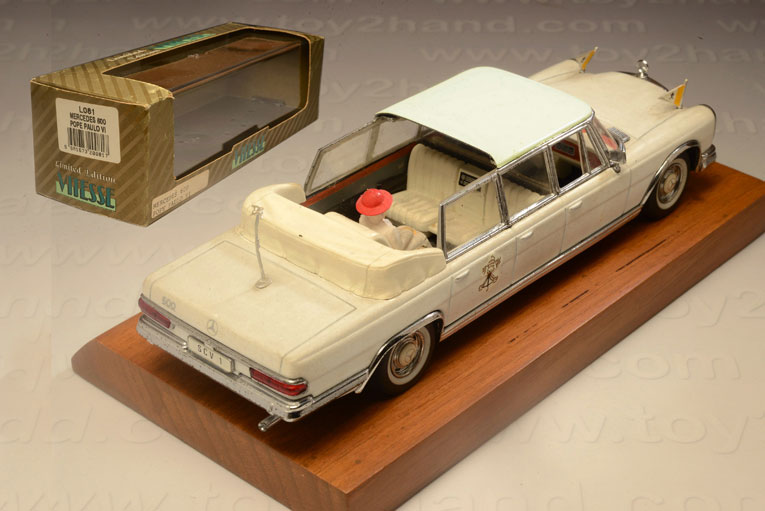 รถเหล็ก Vitesse No.L081 Mercedes 600 Pope Paulo VI 1