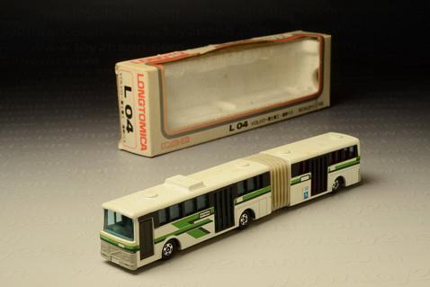 รถเหล็ก Tomica No. L04 (Long Tomica) - Volvo Dual Swing Airport Bus