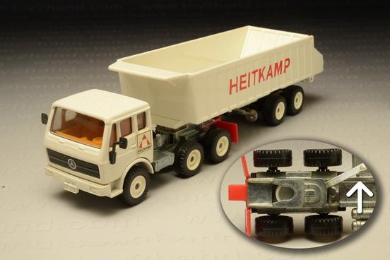 โมเดลรถเหล็ก Mercedes Benz Tipper Truck