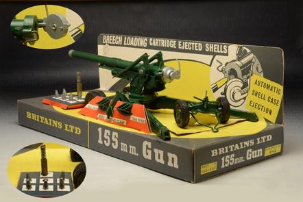 155 M.M. Gun ( Long Tom ), Britains No.9745, Last Edition 1