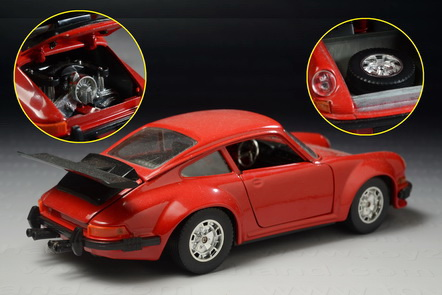 1973 Porsche 911, Bburago 112, Made in Italy year 1997, 18.5 cm.long 1:24 1