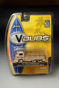 1963 VW Bus Pickup w/Stake Bed, Jada V Dubs no.32, Made in China by Jada Toys Inc. Year 2007 Wave 3,