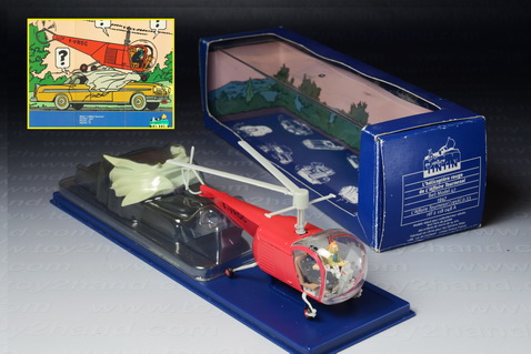 Tintin Bell Helicopter 1947 from The Calculus Affair