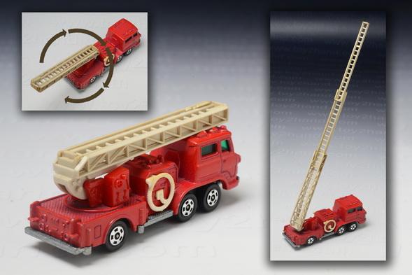 Hino Aerial Ladder Fire Truck, Tomica no.29 black box 1