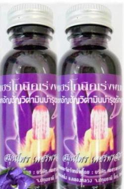แฮร์โทนิคสูตรพิเศษกับตัวยาเร่งผมยาวดกดำ ดอกอัญชัญสมุนไพรไทย