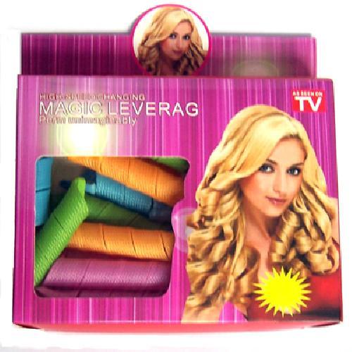 อุปกรณ์ทำลอนผมเกลียวแบบฝรั่งอย่างง่ายๆ MAGIC LEVERAG Hair Curler Roller Toolแบบถุง