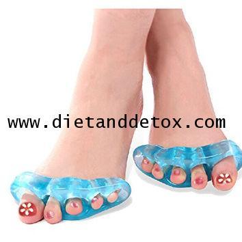 Yoga Toe Separator Soft Gel อุปกรณ์คั่นช่องนิ้วเท้า เพื่อลดอาการนิ้วเท้ากระดูกซ้อนกัน ชนิดช่องกลม