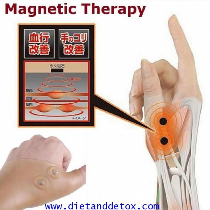 ถุงมือแม่เหล็กแก้อาการบรรเทาอาการกล้ามเนื้อมืออักเสบ มีอาการกระตุกหรือตึงเกินไป