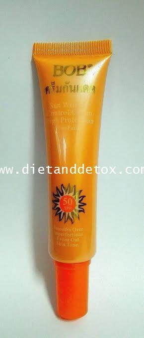 BB ครีมกันแดด SPF50 สูตรกันน้ำ บางเบา ไม่หนักหน้า หลอดสีส้ม เป็นรองพื้นในตัว