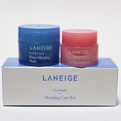Laneige Goodnight Sleeping Care Kit เซ็ทคู่บำรุงผิวหน้าและริมฝีปากยามค่ำคืน สัมผัสความนุ่ม ชุ่มชื่น