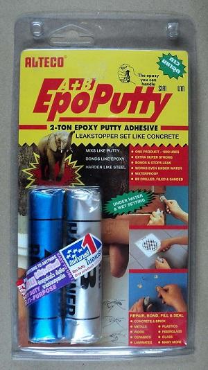 ALTECO Epoxy Putty A+Bอีพ๊อกซี่ กาวมหาอุด กาวดินน้ำมัน กาวหมากฝรั่ง ซิลิโคนอีพ๊อกซี่พุตตี้