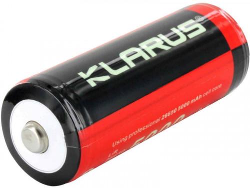 KLARUS 26650 5000mAh แบตเตอรี่ชนิดมีวงจร ประสิทธิภาพและคุณภาพสูง สำหรับไฟฉายหรืออุปกรณ์อื่นที่ใช้พลั