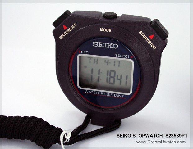 นาฬิกาจับเวลา SEIKO STOPWATCH 1/100 sec. S23589P (มีสินค้าพร้อมส่ง)