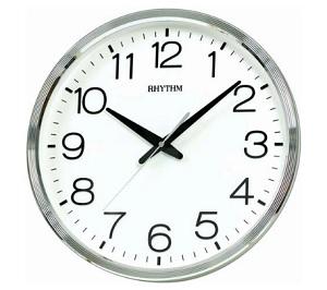 นาฬิกาแขวน RHYTHM CMG494BR19 (Silver)