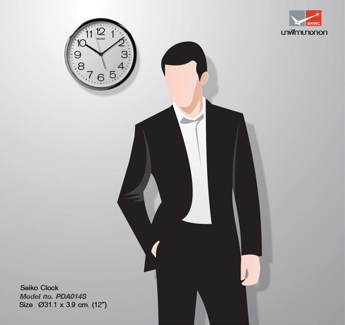นาฬิกาแขวน SEIKO Office Standard Clock PDA014S (12นิ้ว) (มีสินค้าพร้อมส่ง) 4