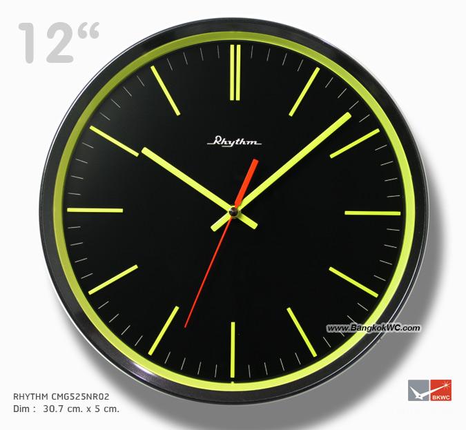 นาฬิกาแขวน Wall Clock RHYTHM CMG525NR19  12 inch.
