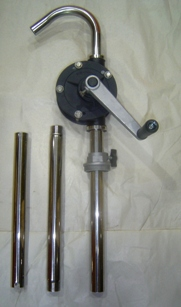 STAINLESS STEEL AND ALUMINUM ROTARY HAND PUMPS  JW-218