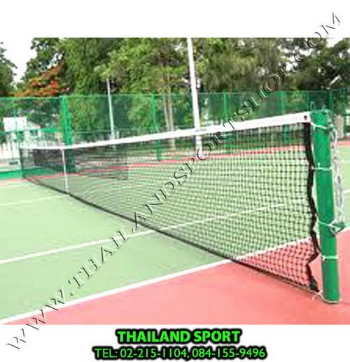 ตาข่าย เน็ต เทนนิส chada รุ่น ฝึกซ้อม มีลวดสลิง ร้อยเข้าในหลอดสายยาง (ยาว 12.60 m. x กว้าง 1.00 m.)