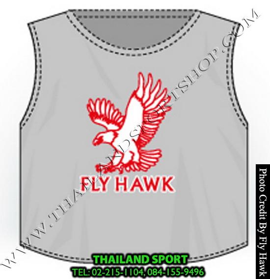 เสื้อเอี๊ยม fly hawk รุ่น a222 (สีเทา)