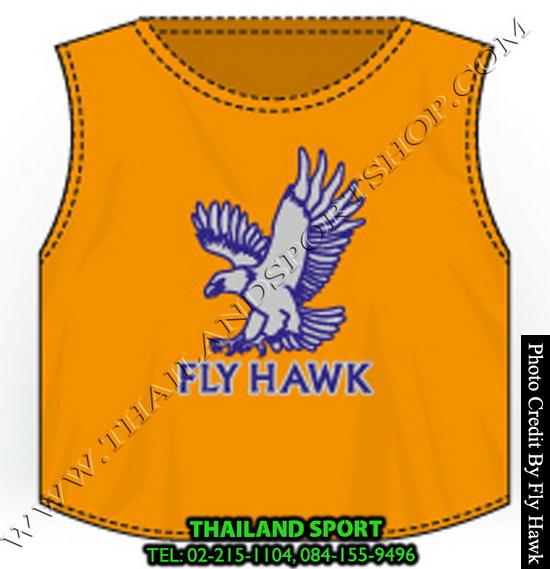 เสื้อเอี๊ยม fly hawk รุ่น a222 (สีส้ม)