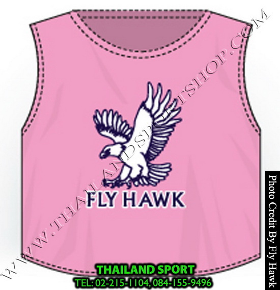 เสื้อเอี๊ยม fly hawk รุ่น a222 (สีชมพู)
