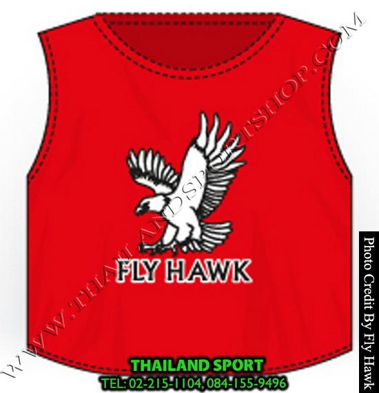 เสื้อเอี๊ยม fly hawk รุ่น a222 (สีแดง)