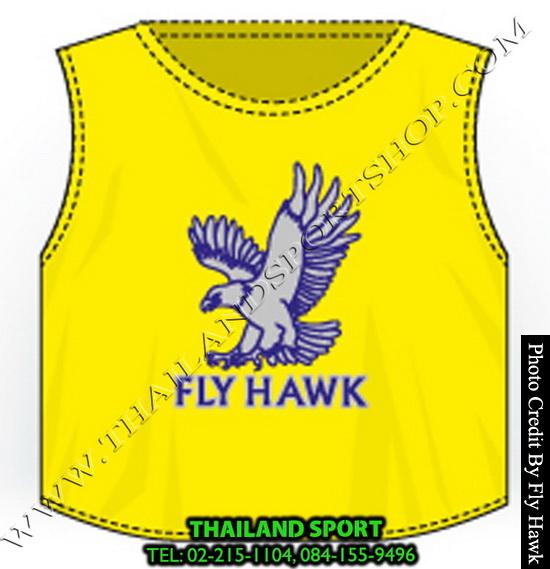 เสื้อเอี๊ยม fly hawk รุ่น a222 (สีเหลือง)
