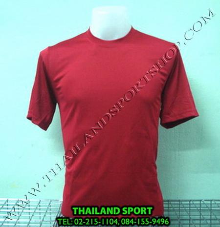 เสื้อกีฬาสี สีล้วน mhee cool รุ่น pc 05 (สีแดง r)