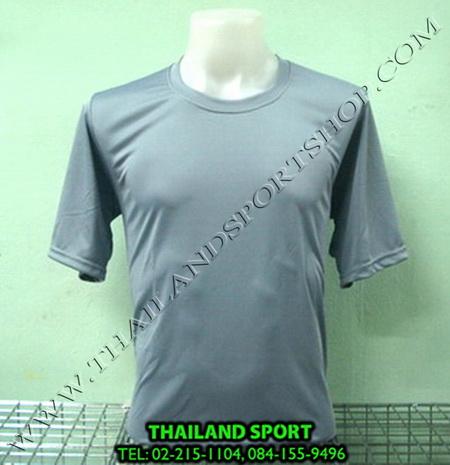 เสื้อกีฬาสี สีล้วน mhee cool รุ่น pc 05 (สีเทา s)