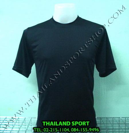 เสื้อกีฬาสี สีล้วน mhee cool รุ่น pc 05 (สีดำ a)