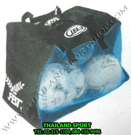 กระเป๋าใส่ ลูกบอล FBT รุ่น 81-3-22 (สีดำ-น้ำเงิน AB) บรรจุ 9 ลูก