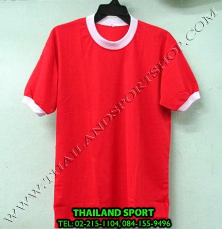 เสื้อกีฬาเด็ก คอกลม SKY STAR (สีแดง R) ชาย, หญิง