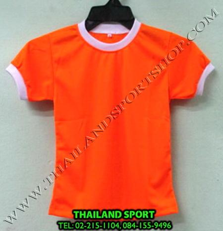 เสื้อกีฬาเด็ก คอกลม SKY STAR (สีส้ม O) ชาย, หญิง