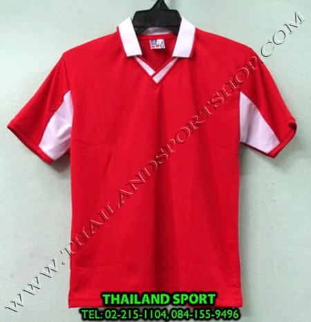 เสื้อกีฬาเด็ก คอปก SKY STAR (สีแดง R) ชาย, หญิง