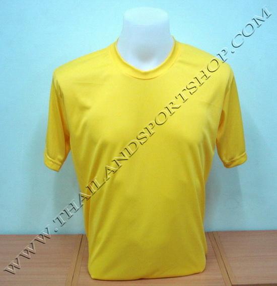 เสื้อกีฬาสี สีล้วน SKY STAR รุ่น 001 (สีเหลือง Y)