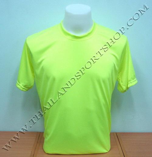 เสื้อกีฬาสี สีล้วน SKY STAR รุ่น 001 (สีเหลืองสะท้อน Y2)