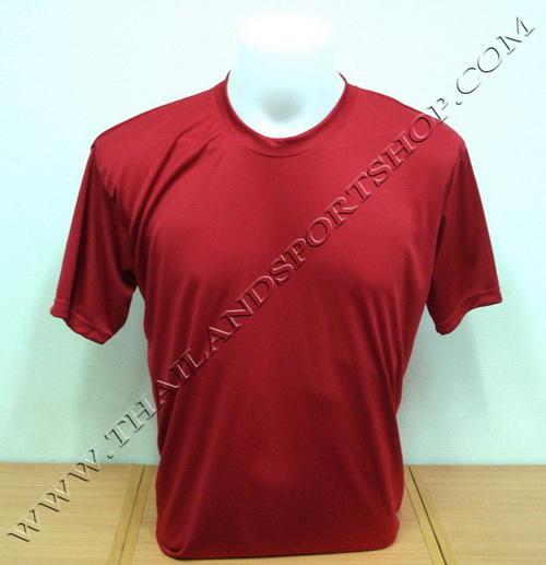 เสื้อกีฬาสี สีล้วน SKY STAR รุ่น 001 (สีแดง R)