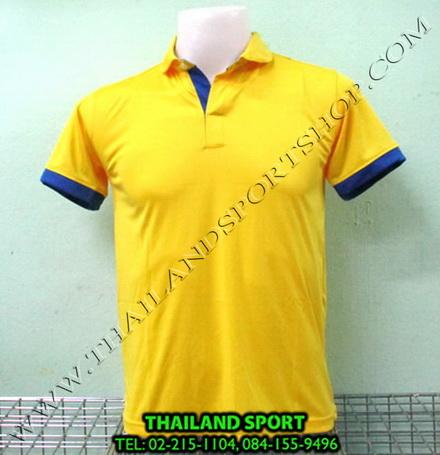 เสื้อโปโล กีฬา MHEE COOL รุ่น PL-2 (สีเหลือง Y)