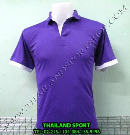 เสื้อโปโล กีฬา MHEE COOL รุ่น PL-2 (สีม่วง V)