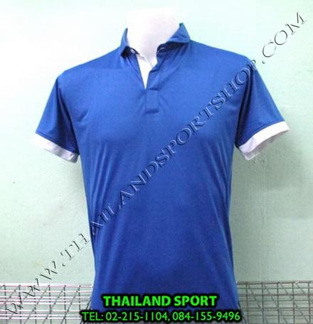 เสื้อโปโล กีฬา MHEE COOL รุ่น PL-2 (สีน้ำเงิน B)