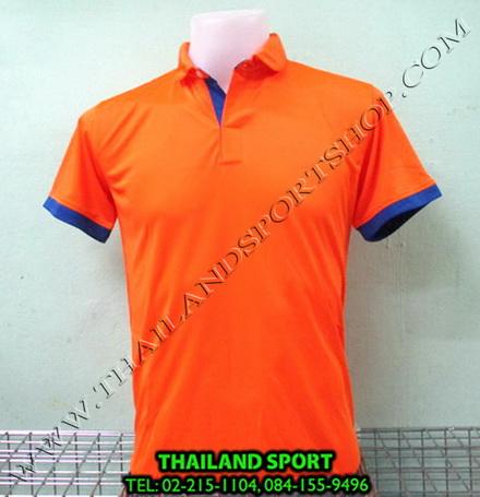 เสื้อโปโล กีฬา MHEE COOL รุ่น PL-2 (สีส้ม O)