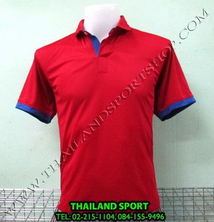 เสื้อโปโล กีฬา MHEE COOL รุ่น PL-2 (สีแดง R)