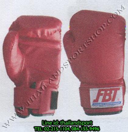 นวมมมวย F.B.T. ชนิดฝึกซ้อม หนังเทียม No. 007 (สีแดง R, น้ำเงิน B) น้ำหนัก 8, 10, 12, 14, 16, 18 oz.