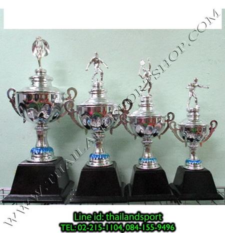 ถ้วยรางวัล star1980 รุ่น t11-3 (สีเงิน s) หัวสัญลักษณ์รูป นักกีฬา แบบครบชุด n6 net pro ok