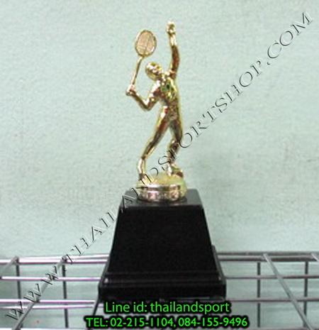 ถ้วยรางวัล star1980 รุ่น mini (สีทอง gd, เงิน s) รูปนักแบตมินตัน แบบเดียว n6 net pro ok